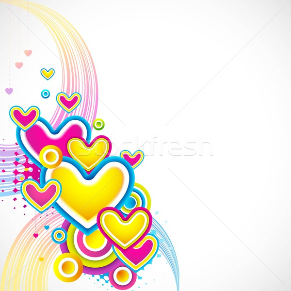 Colorful Love Card Stock photo © vectomart