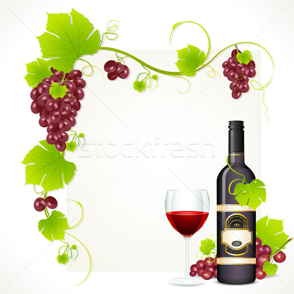 Wine Bottle with Glass Stock photo © vectomart