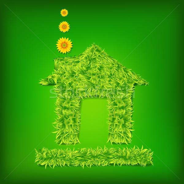теплица иллюстрация трава аннотация дизайна модель Сток-фото © vectomart