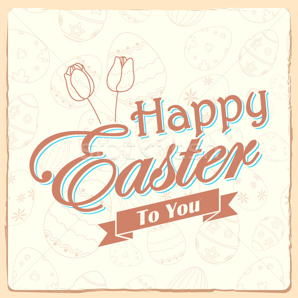 Happy Easter typography background Stock photo © vectomart