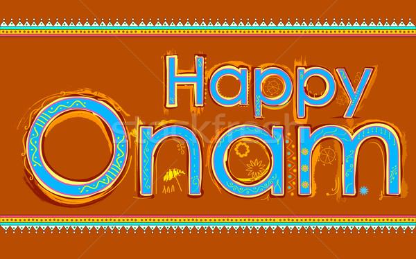 Happy Onam background Stock photo © vectomart