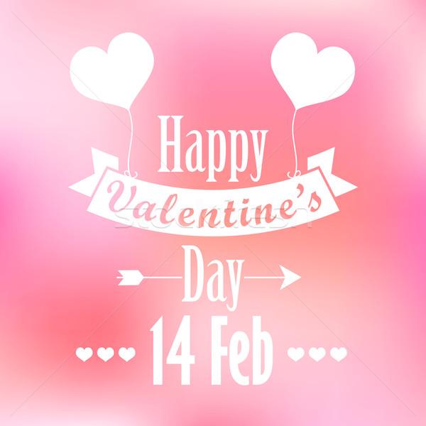 Happy Valentine's Day Background Stock photo © vectomart