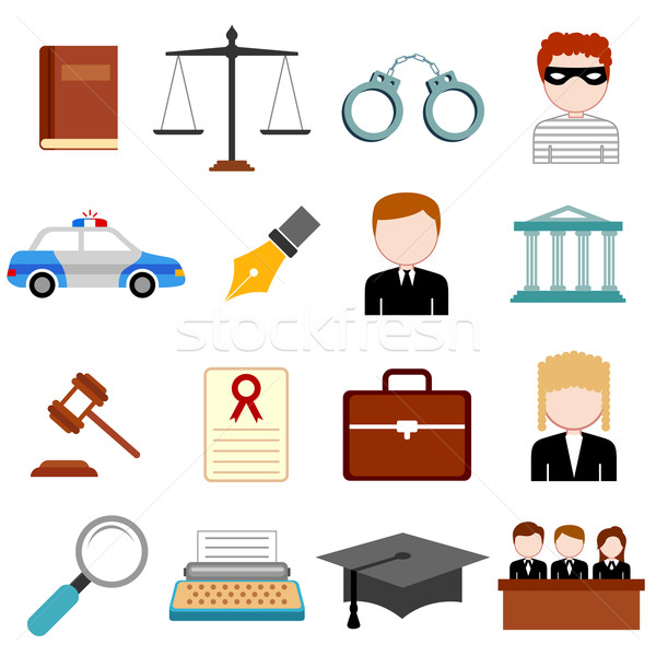 Stock photo: Law and Justice icon