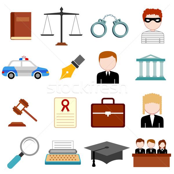 Stock fotó: Törvény · igazság · ikon · illusztráció · terv · ügyvéd