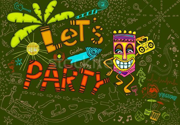 Tiki Party Stock photo © vectomart