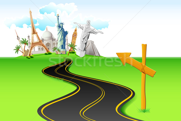 Way to World Travel Stock photo © vectomart