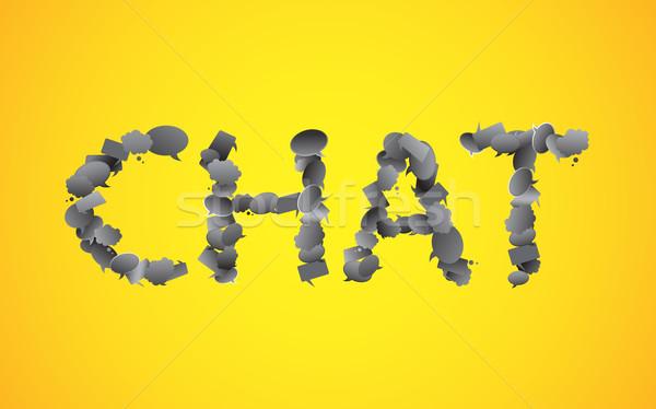 Chattare bolla illustrazione chat parola fumetto arte Foto d'archivio © vectomart