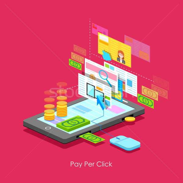 щелчок иллюстрация бизнеса интернет Сток-фото © vectomart