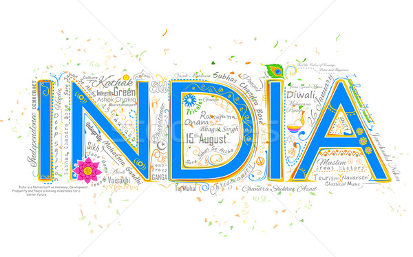 India background typography Stock photo © vectomart