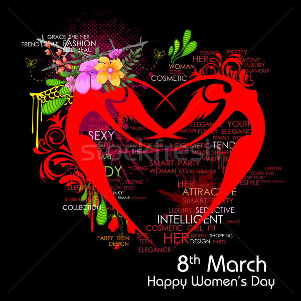 幸せ 女性 日 実例 女性の日 ストックフォト © vectomart