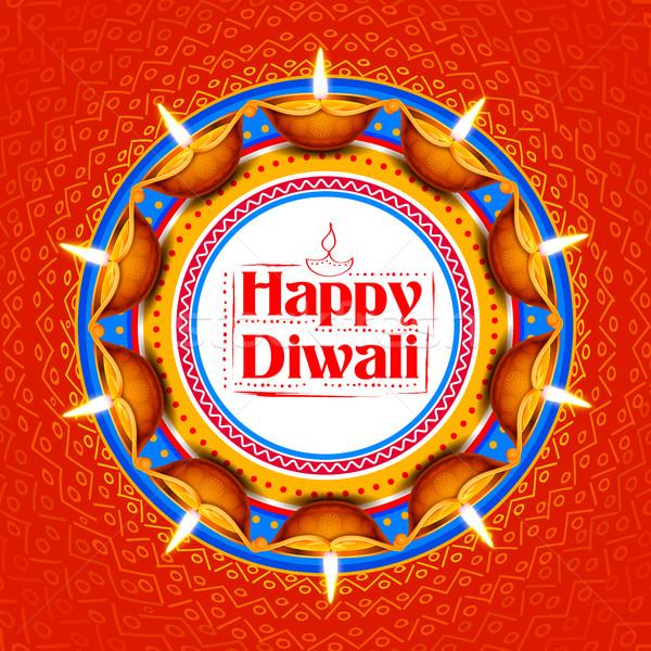 Ardor feliz diwali vacaciones luz festival Foto stock © vectomart