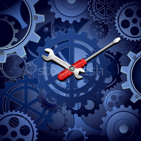 Cogwheel Clock Stock photo © vectomart
