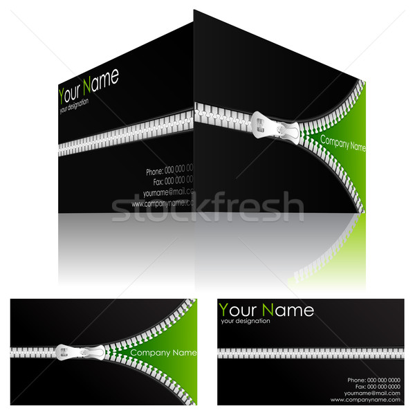 Business Card with Zipper Stock photo © vectomart
