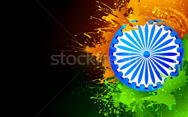 Indie tricolor ilustracja indian Zdjęcia stock © vectomart