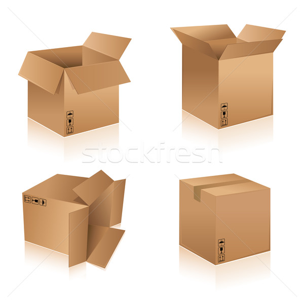 Stock photo: Cardboard Boxes