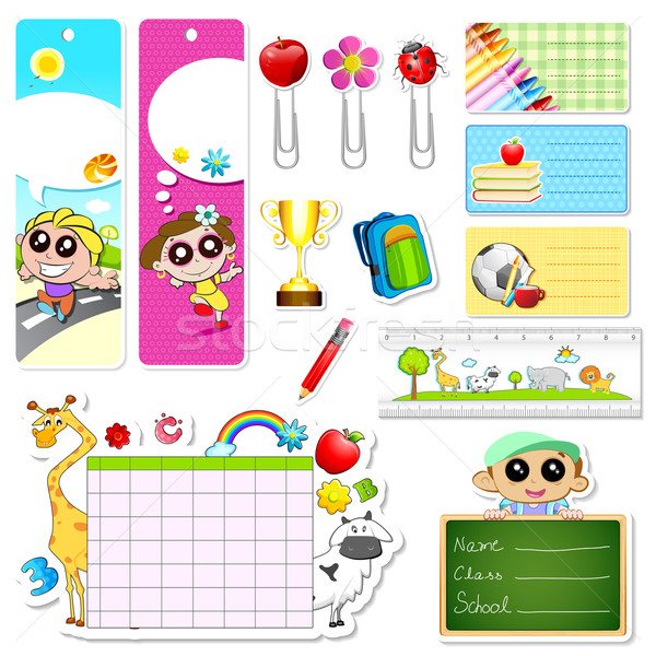 School Stationery Stock photo © vectomart