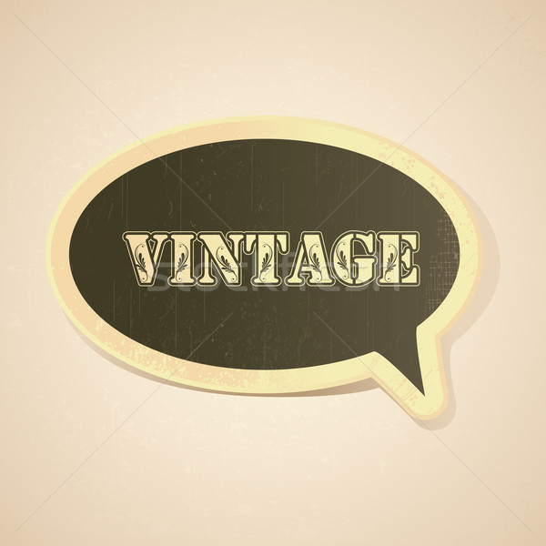 Vintage Chat Bubble Stock photo © vectomart
