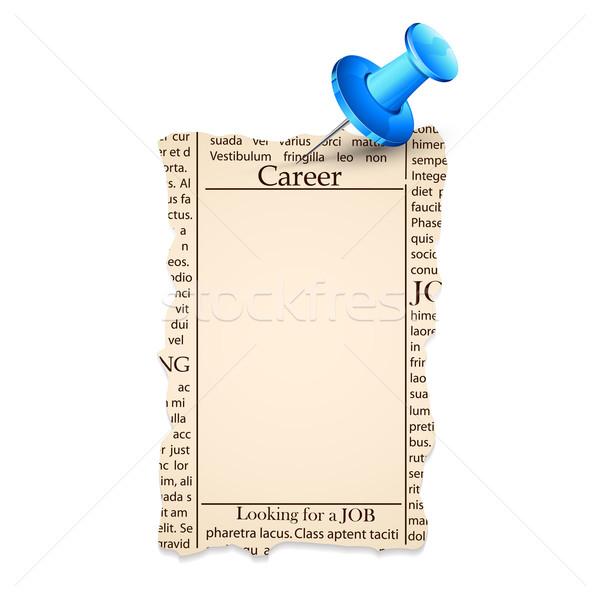 Job Classified in Newspaper Stock photo © vectomart