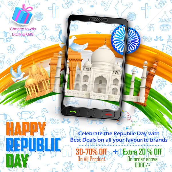 Republic Day sale banner Stock photo © vectomart