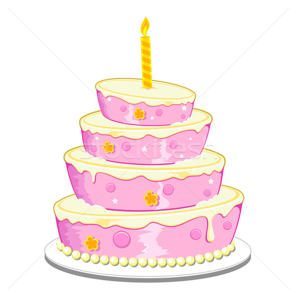 Birthday Cake Stock photo © vectomart