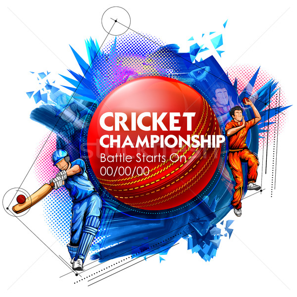 Chapéu-coco jogar críquete campeonato esportes ilustração Foto stock © vectomart
