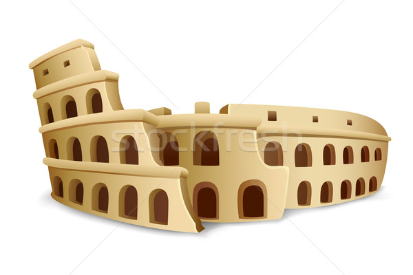 Romeinse colosseum illustratie model witte Europa Stockfoto © vectomart
