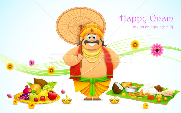 King Mahabali in Onam background Stock photo © vectomart