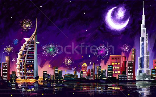 Eid Celebration Dubai Stock photo © vectomart
