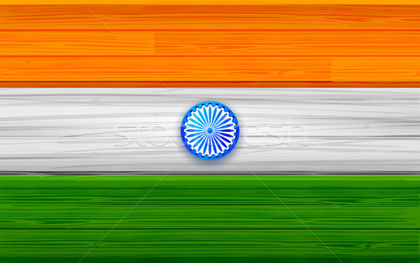 Tricolor Indian Flag background for Republic  and Independence Day of India Stock photo © vectomart