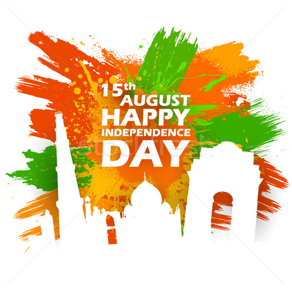 известный индийской ориентир счастливым день Индия Сток-фото © vectomart