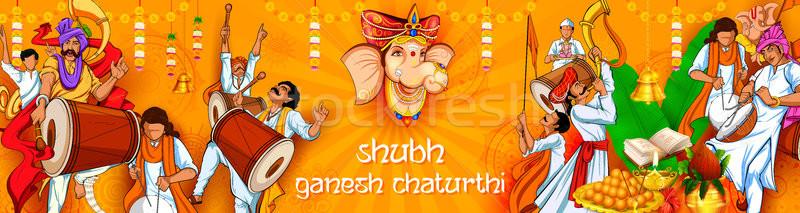 Foto stock: Ilustración · mensaje · oración · culto · elefante · estatua