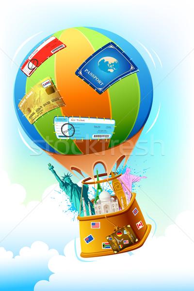Voyage Pack illustration monde célèbre autre Photo stock © vectomart