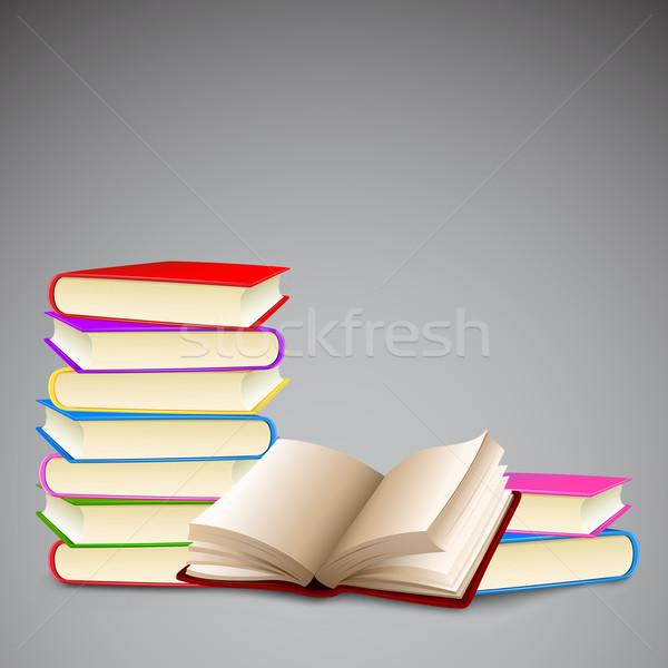 Foto stock: Colorido · livro · ilustração · livros · papel