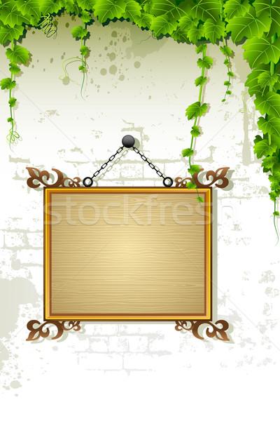 Name Plate on Wall Stock photo © vectomart