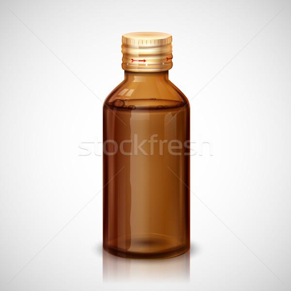 Medicina jarabe botella ilustración vidrio médicos Foto stock © vectomart