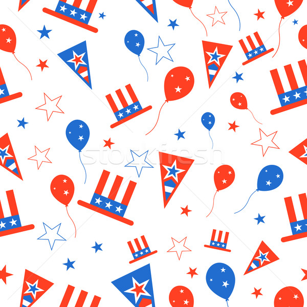 Seamless Pattern for 4th of July Stock photo © vectomart