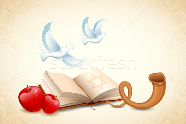 Happy Yom Kippur Stock photo © vectomart