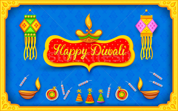 Diwali background with colorful firecracker Stock photo © vectomart