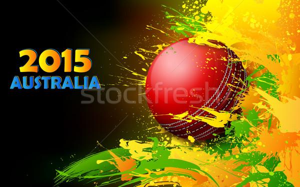 Críquete bola sujo abstrato ilustração esportes Foto stock © vectomart