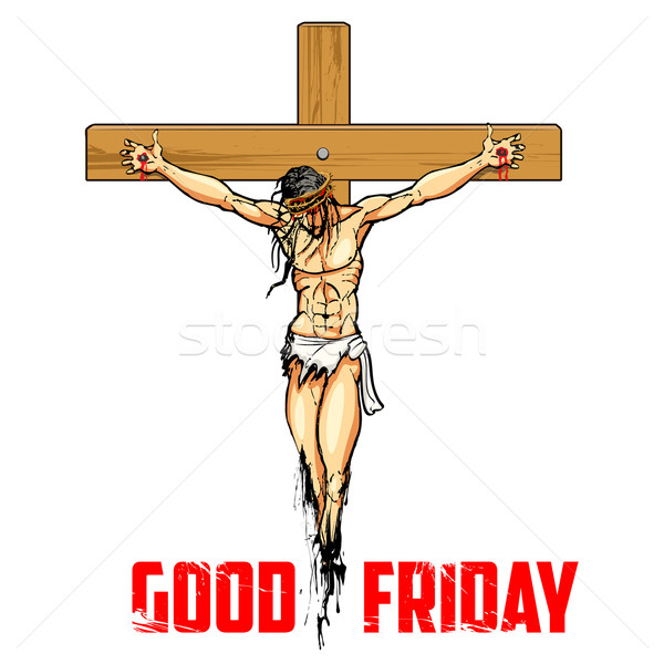 Jesus Christ on cross for Good Friday Stock photo © vectomart