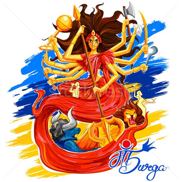 богиня счастливым иллюстрация текста смысл матери Сток-фото © vectomart