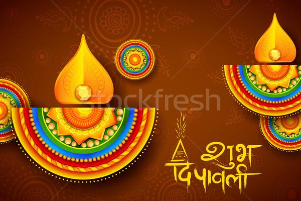 燃焼 ディワリ 休日 光 祭り インド ストックフォト © vectomart
