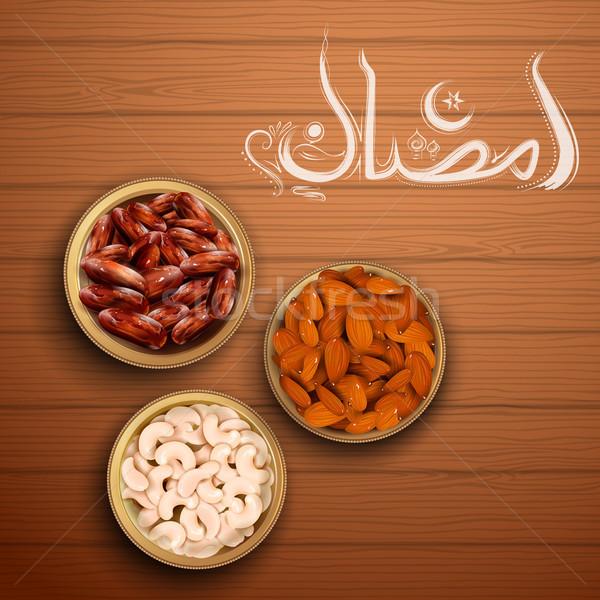Accueil ramadan généreux arabe Photo stock © vectomart