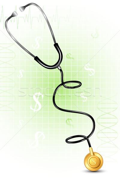Stéthoscope dollar forme illustration résumé médicaux Photo stock © vectomart