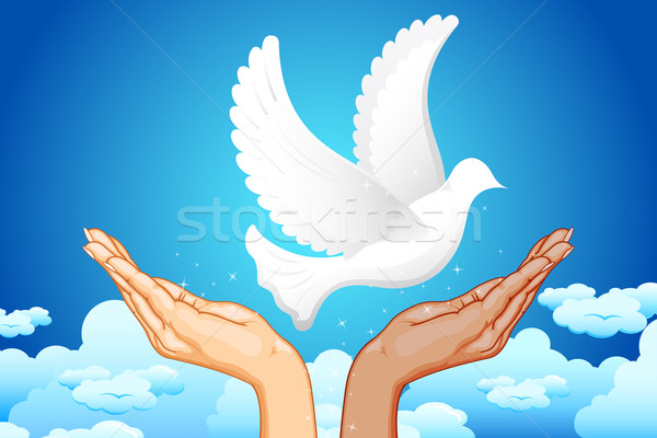 Hands for Peace Stock photo © vectomart