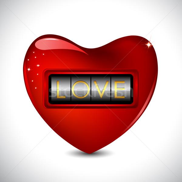 Combination Lock on Heart Stock photo © vectomart