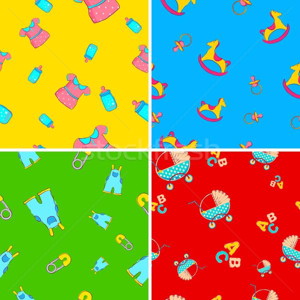 Baby Wallpaper Stock photo © vectomart