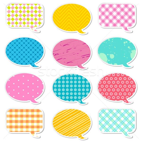 Chattare bolla illustrazione diverso colorato pattern arte Foto d'archivio © vectomart