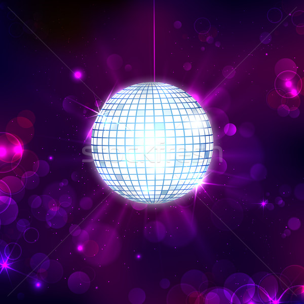 Disco Ball on Musical Background Stock photo © vectomart