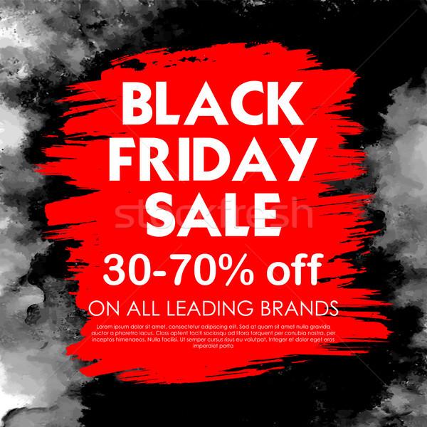 Black friday vásár vásárlás ajánlat promóció vidám Stock fotó © vectomart